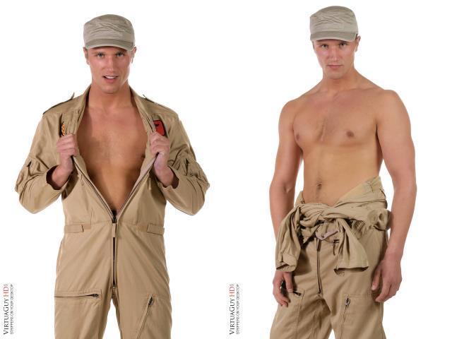 Military striptease - air commander