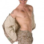 Military male stripper naked soldiers