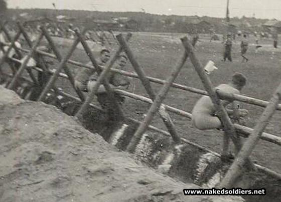 german soldiers in latrines