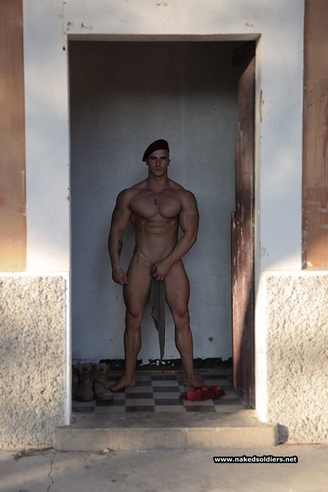 stunning military man naked