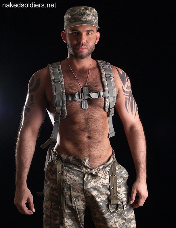 Hairy military man