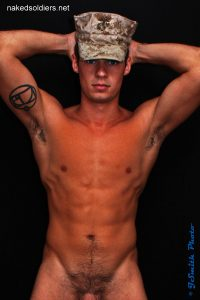 Nude army boy