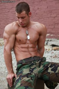 Sexy muscle soldier