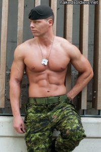 Brutal army man nude