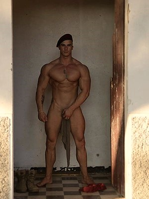 Military muscle man naked