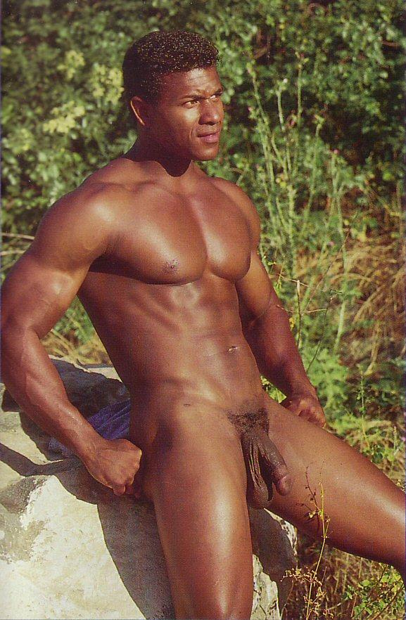 hot black muscle man