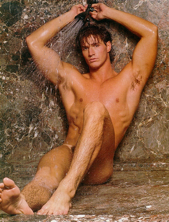 muscle guy naked shower
