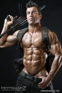 Army muscled hunk