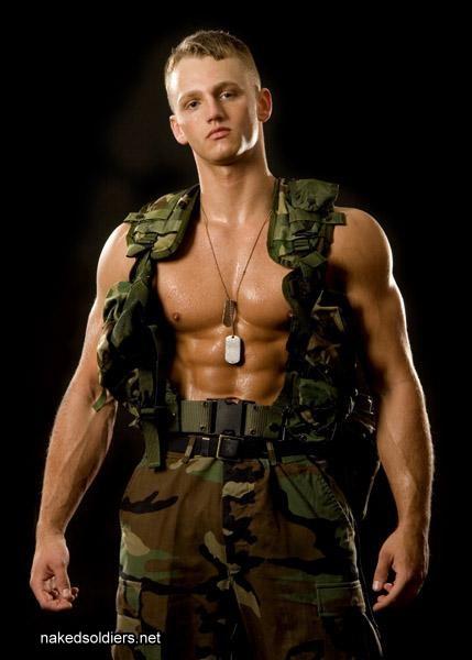 Blond soldier erotica