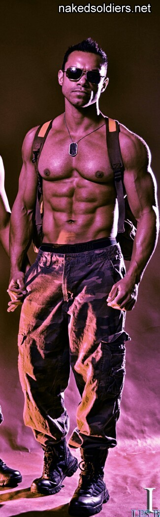 Hot muscle army hunk