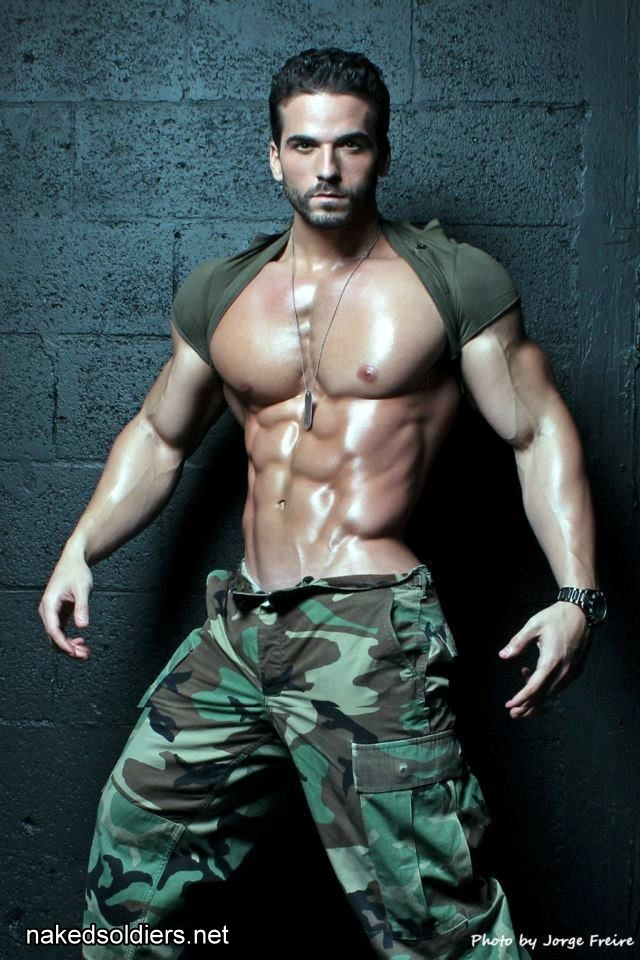Military male fitness model
