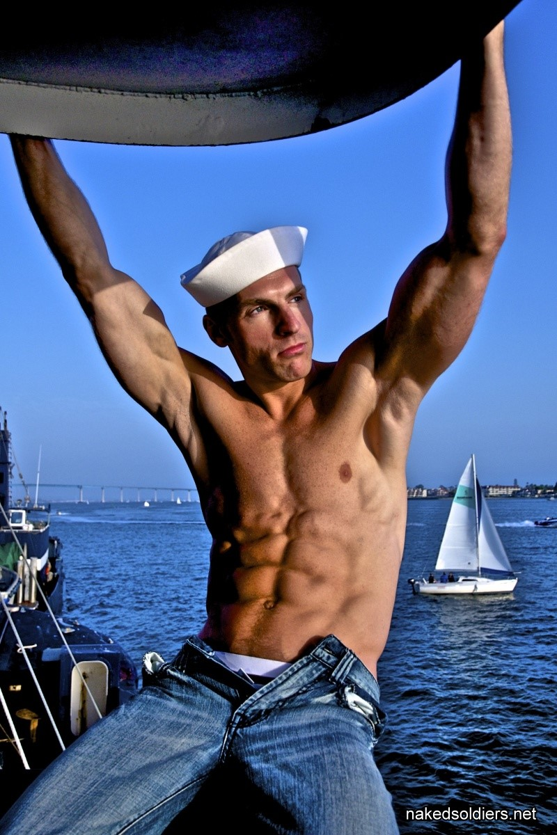 Muscle sailor man naked