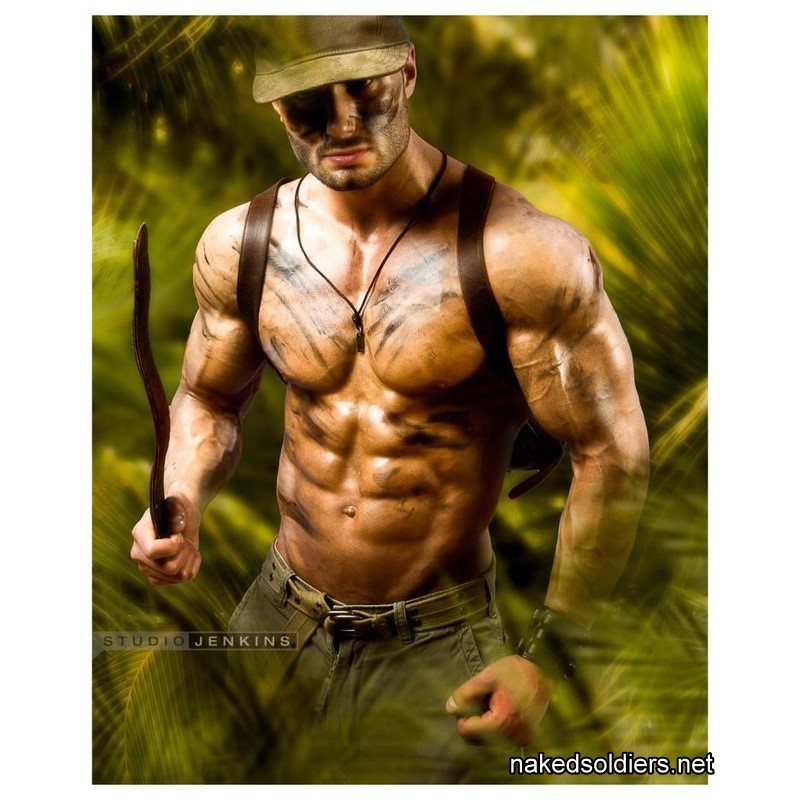 Muscle soldier hunk
