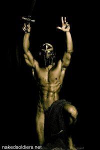 Naked gladiator