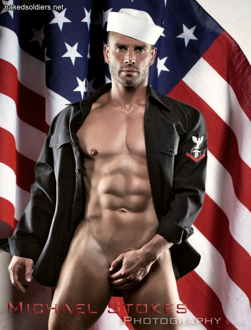 Naked navy hunk
