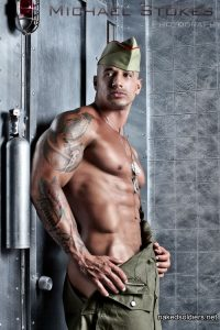 Seducing muscle soldier