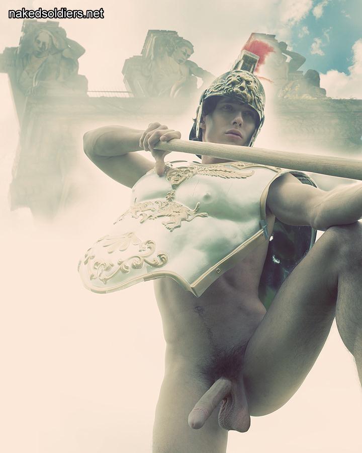 Stunning gladiator naked