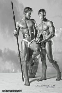 Roman spearmen naked