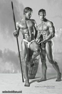 Roman spearmen naked