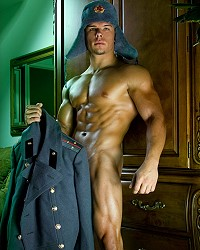 army hunks naked